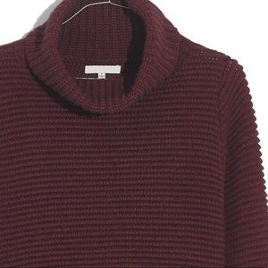 MADEWELL Side-Button Sweater NWT Size XS Cherry